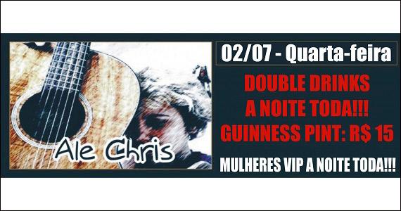 Republic Pub embala a noite ao som de Ale Chris na quarta-feira Eventos BaresSP 570x300 imagem