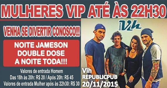 Sal Vincent e banda Vih comandam o feriado com pop rock no Republic Pub Eventos BaresSP 570x300 imagem