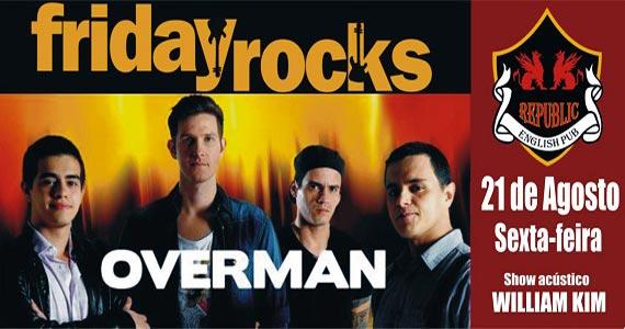 William Kim e banda Overman animam a noite de sexta-feira no Republic Pub Eventos BaresSP 570x300 imagem