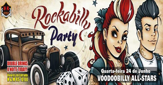 Banda Voodoobilly All-Stars agita a noite de quarta com muito rock no Republic Pub Eventos BaresSP 570x300 imagem