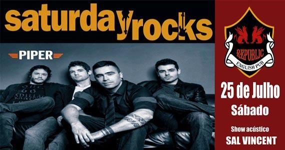Sal Vincent e banda Piper neste sábado com muito rock no Republic Pub Eventos BaresSP 570x300 imagem