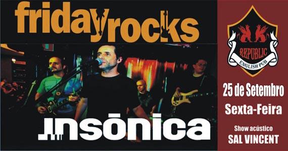 Banda Insônica e Sal Vincent animam a noite com muito pop rock no Republic Pub Eventos BaresSP 570x300 imagem