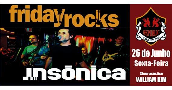 William Kim e banda Insônica agitam a noite de sexta-feira com pop rock no Republic Pub Eventos BaresSP 570x300 imagem