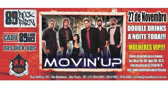 Banda Movin'Up e DJ Cadu da 89 FM nesta quinta-feira no Republic Pub Eventos BaresSP 570x300 imagem