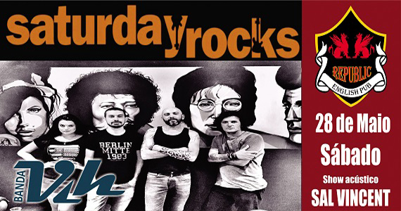 Banda Vih e Sal Vincent animam o sábado com pop rock no Republic Pub Eventos BaresSP 570x300 imagem