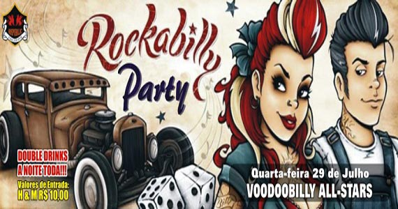 Festa Rockabilly Party com banda Voodoobilly All-Stars nesta quarta no Republic Pub Eventos BaresSP 570x300 imagem
