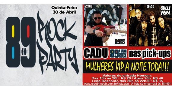Banda Gullivera e DJ Cadu com muito pop rock animando a noite no Republic Pub Eventos BaresSP 570x300 imagem