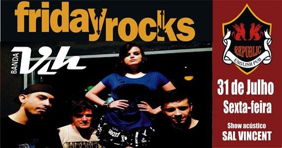 Banda Vih e Sal Vincent comandam a sexta-feira com muito pop rock no Republic Pub Eventos BaresSP 570x300 imagem