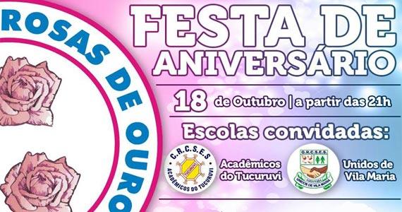 Festa de aniversário e apresentação da logomarca neste sábado na Escola de Samba Rosas de Ouro Eventos BaresSP 570x300 imagem