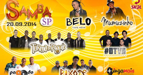 Samba São Paulo com Belo, Turma do Pagode, Pixote e Convidados no Espaço das Américas Eventos BaresSP 570x300 imagem