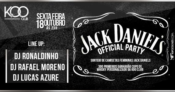 Festa Jack Daniels Official Party com DJ Ronaldinho agitando a pista da Koo Club nesta sexta-feira Eventos BaresSP 570x300 imagem