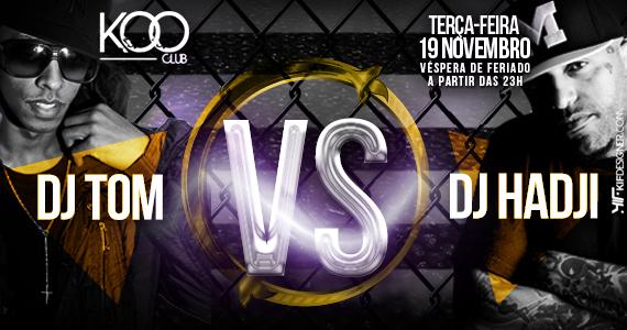Véspera de feriado com festa Duelo de Titãs agitando a noite de terça-feira na Koo Club Eventos BaresSP 570x300 imagem