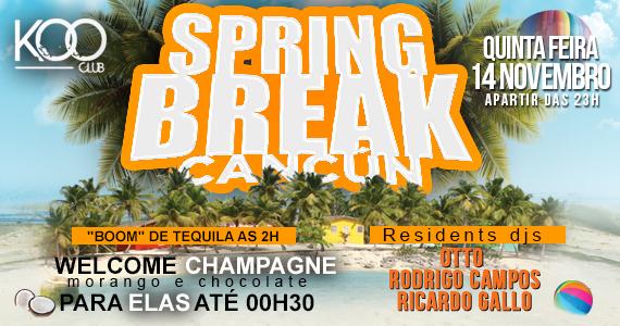 Festa Spring Break Cancun com DJs convidados agitam a noite de quinta-feira da Koo Club Eventos BaresSP 570x300 imagem