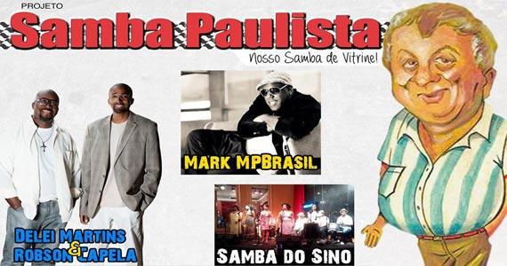 Projeto Samba Paulista apresenta Mark MPBrasil e convidados animando a galera Eventos BaresSP 570x300 imagem