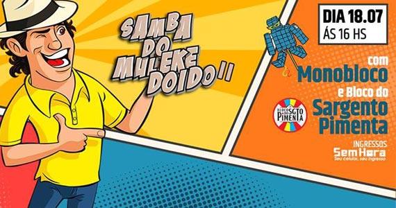 Monobloco, Sargente Pimenta, CowBell e VamoAê no Samba do Muleke Doido II na Audio club Eventos BaresSP 570x300 imagem