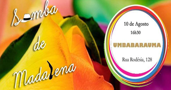 Samba de Madalena comanda a tarde de domingo no Umbabarauma Bar Eventos BaresSP 570x300 imagem