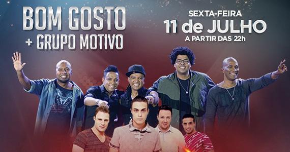 Grupos Bom Gosto e Motivo animam a noite de sexta-feira no Santa Aldeia  Eventos BaresSP 570x300 imagem