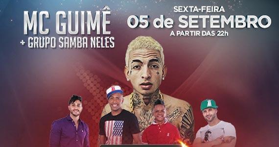 MC Guime e grupo Samba Neles nesta sexta-feira no Santa Aldeia Eventos BaresSP 570x300 imagem