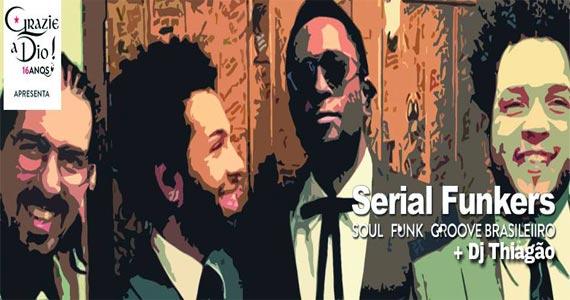 Banda Serial Funkers toca muita Soul Music no palco do Grazie A Dio Eventos BaresSP 570x300 imagem