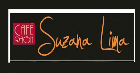 Canções do novo DVD da cantora Suzana Lima no palco do Café Paon Eventos BaresSP 570x300 imagem