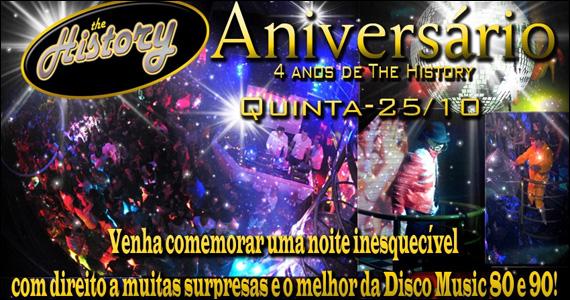 Acontece na quinta-feira a Festa de 4 Anos da The History  Eventos BaresSP 570x300 imagem