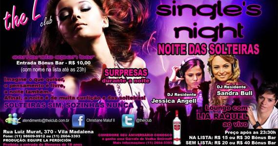 The L Club apresenta a Noite das Solteiras com DJs residentes e a cantora Lia Raquell Eventos BaresSP 570x300 imagem