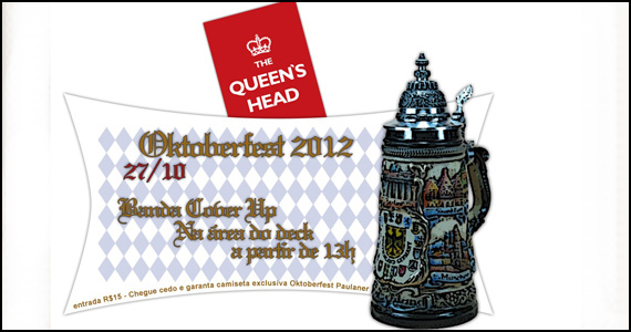 No sábado o The Queen's Head celebra a festa alemã Oktoberfest Eventos BaresSP 570x300 imagem