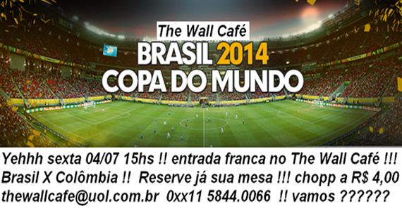 The Wall Café transmite jogo de Brasil x Colômbia nesta sexta-feira com entrada gratuita Eventos BaresSP 570x300 imagem