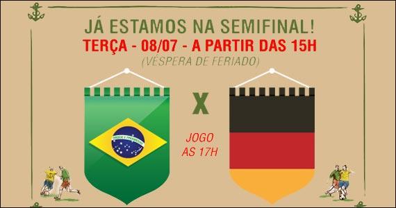 The Sailor transmite os principais lances do jogo Brasil x Alemanha Eventos BaresSP 570x300 imagem