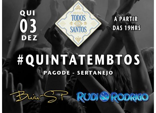 Boteco Todos os Santos recebe show de Rudi & Rodrigo e convidados Eventos BaresSP 570x300 imagem