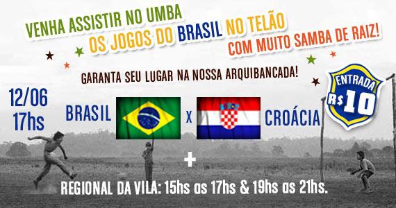 Samba de Raiz com grupo Regional da Vila e jogo do Brasil no Umbabarauma Bar Eventos BaresSP 570x300 imagem