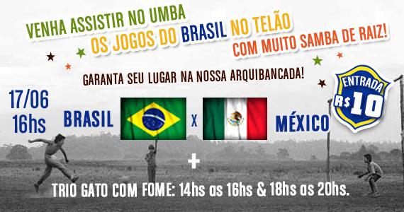 Trio Gato com Fome com Jogo de Brasil x México no Umbabarauma Bar Eventos BaresSP 570x300 imagem