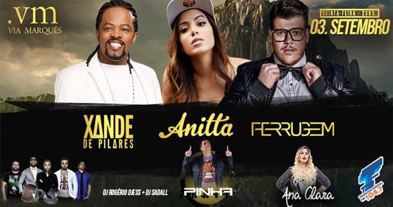 Via Marquês apresenta show de Anitta, Ferrugem e Xande de Pilares Eventos BaresSP 570x300 imagem