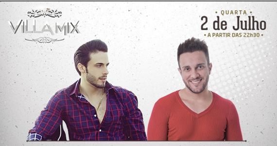 Rodrigo Marim e Bruno Cesar se apresentam no palco do Villa Mix nesta quarta-feira Eventos BaresSP 570x300 imagem