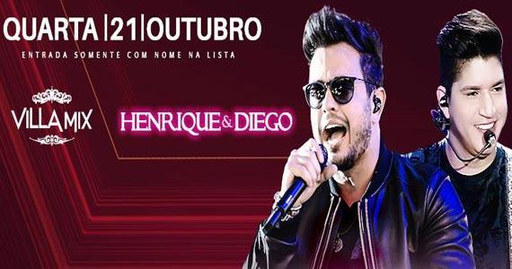 Henrique & Diego apresentam seus sucessos do sertanejo no Villa Mix Eventos BaresSP 570x300 imagem