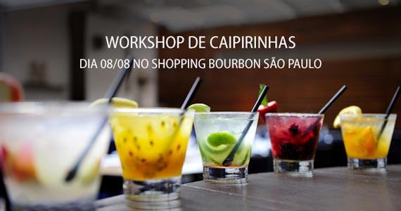 Workshop de Caipirinhas Gratuito na loja Fast Shop do Shopping Bourbon São Paulo Eventos BaresSP 570x300 imagem
