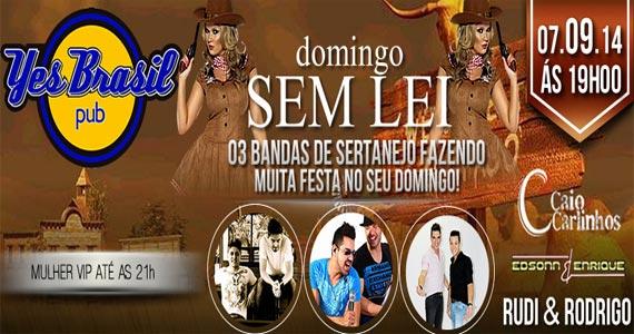 Edsonn & Enrique, Rudi & Rodrigo e Caio & Carlinhos comandam o domingo do Yes Brasil Pub Eventos BaresSP 570x300 imagem
