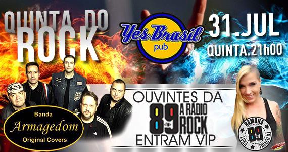Quinta do Rock com banda Armagedom animando a quinta-feira do Yes Brasil Pub Eventos BaresSP 570x300 imagem