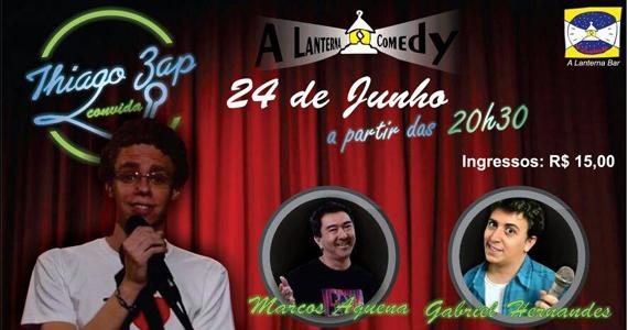 A Lanterna Comedy com Thiago Zap convidando Marcos Aquena e Gabriel Hernandes Eventos BaresSP 570x300 imagem