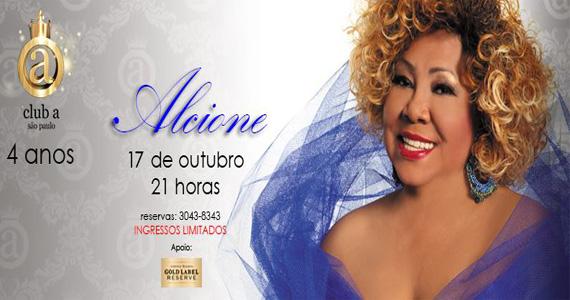 Alcione faz show especial no Club A São Paulo nesta quinta-feira Eventos BaresSP 570x300 imagem