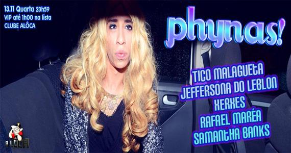 A Lôca recebe mais uma edição de Phynas para animar a noite com DJs comandando a pista desta quarta-feira Eventos BaresSP 570x300 imagem