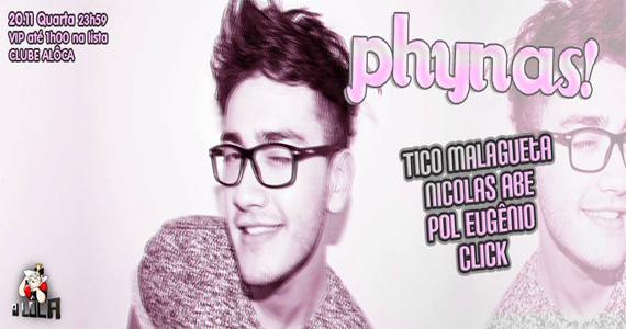 A Lôca recebe festa Phynas! com DJs agitando o feriado desta quarta-feira Eventos BaresSP 570x300 imagem