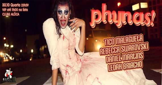 A Lôca recebe a festa Phynas especial de Halloween para animar a quarta-feira Eventos BaresSP 570x300 imagem