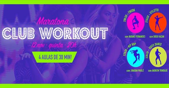 Maratona Club Workout promove atrações no Anexo B na quinta Eventos BaresSP 570x300 imagem