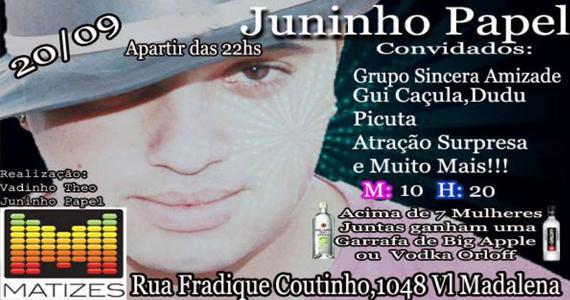 Matizes Bar realiza aniversário de Juninho Papel na sexta com convidados Eventos BaresSP 570x300 imagem
