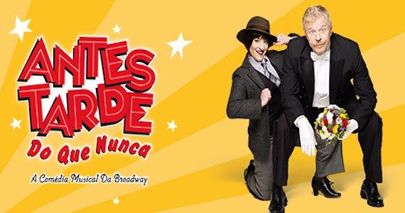 Miguel Falabella e Simone Gutierrez estrelam o musical Antes Tarde do que Nunca no Teatro Cetip Eventos BaresSP 570x300 imagem
