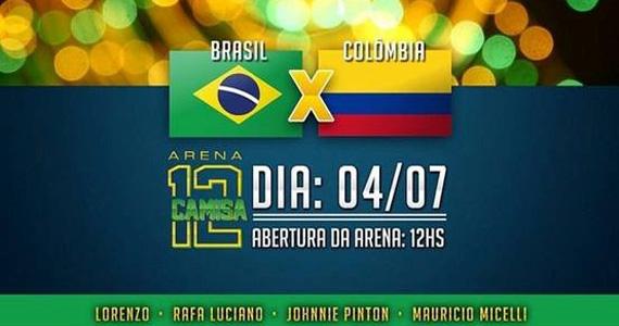 Arena Camisa 12 arma festa para o jogo de Brasil x Colômia no La Luna sexta-feira  Eventos BaresSP 570x300 imagem