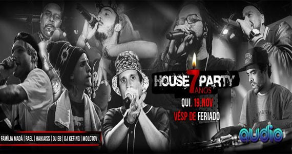 Audio Club realiza Festa de 7 anos da House Party com show de Rael, Haikaiss e convidados Eventos BaresSP 570x300 imagem
