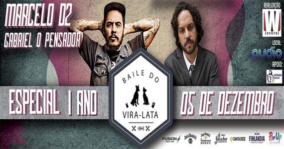 Audio Club realiza Baile do Vira Lata com show de Marcelo D2 e Gabriel O Pensador Eventos BaresSP 570x300 imagem