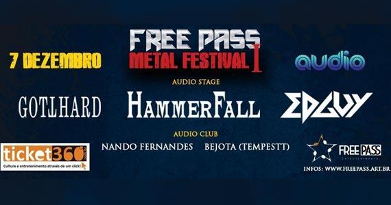Free Pass Metal Festival I com diversas atrações acontece na Audio Club da Barra Funda Eventos BaresSP 570x300 imagem